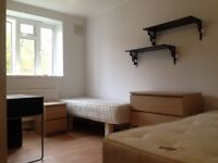 Twin room in Clapham South available now for £210pw all bills included + free Internet WiFi!