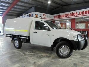 2009 Mitsubishi Triton ML MY09 GLX White 4 Speed Automatic Cab Chassis Welshpool Canning Area Preview