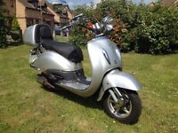 2012 Tommy 50cc Direct Bikes ZN50QT 50cc retro cruiser scooter low mileage 1 owner