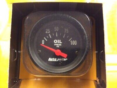 New Auto Meter Black Oil Pressure Gauge 2634