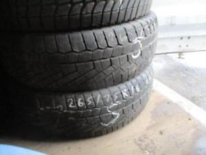 265/75 R16 CONTINENTAL WINTER TIRES USED SNOW TIRES (PAIR OF 2 - $130.00 for both) - APPROX. 85% TREAD