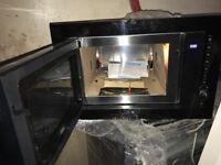 built-in microwave new beko in black