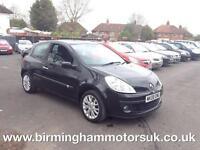 2008 (08 Reg) Renault Clio 1.2 TCE DYNAMIQUE 3DR Hatchback BLACK + MOT 23/02/18