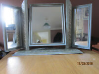 Shabby chic freestanding mirror.