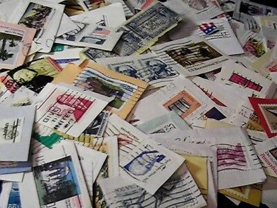 Lot of 280 Vintage used Postage Stamps On-Paper Mostly USA