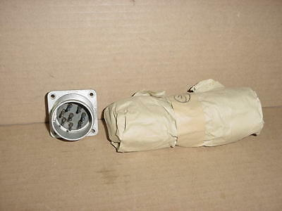 Nos Bendix An3102m Amphenol An3102m-24-6p Male 8 Pin Aluminum Circular Bulkhead