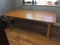 Large sturdy dining table - light oak