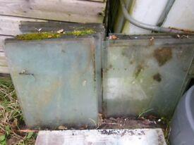 Greenhouse glass panes, 510mm x 408mm