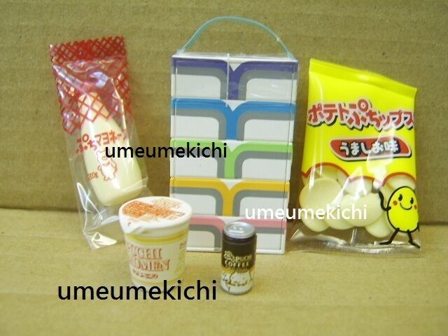 Re-ment dollhouse miniature chips box tissue mayonnaise cup noodle coffee 2003