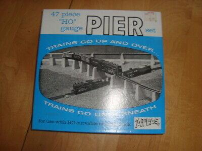 Atlas Train 47-Piece HO Gauge Pier Set Vintage