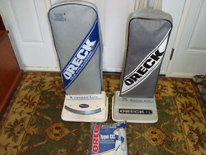 PAIR OF EXCELLENT QUALITY ORECK UPRIGHT VACS