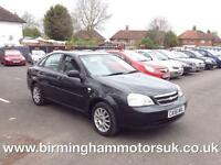 2006 (56 Reg) Chevrolet Lacetti 1.6 SX 4DR Saloon BLACK + LOW MILES