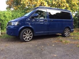 VW T5 Campervan. 2010 registration. Excellent condition and with many extras