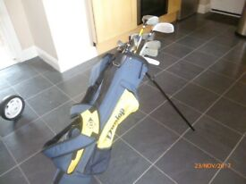 Junior golf clubs, stand bag and trolley reduced from 20 - £14