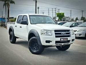2008 Ford Ranger PJ XL Crew Cab 4x2 Hi-Rider White 5 Speed Automatic Double Cab Pick Up Cheltenham Kingston Area Preview