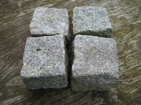 Granite Cobble Setts, Approx. 4 x 4 inch, Approx. 1000 pieces available