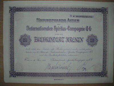 Internationale Spiritus Compagnie AG  Wien 1922