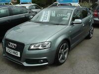 2012 AUDI A3 2.0 TDI 170 Black Edition [Start Stop] HALF LEATHER+SAT NAV