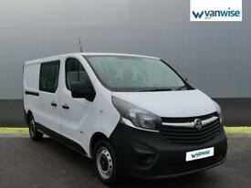 2015 Vauxhall Vivaro 2900 1.6CDTI 115PS H1 DoubleCab Diesel white Manual
