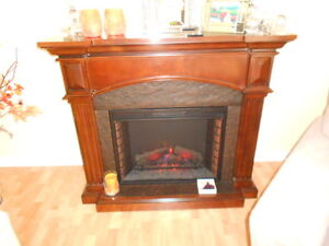 "Electric Fireplace & Surround (48"" High x 25"" Wide x 21"" Deep)"