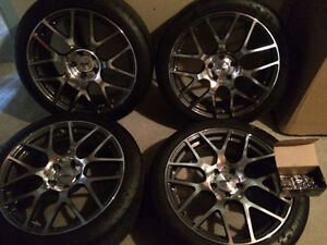 "19"" Michelin Pilot Super Sport Tires on TSW Nurburgring Rims"