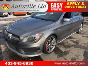 2015 MERCEDES CLA 45 AMG LEATHER ROOF NAV B CAM TURBO