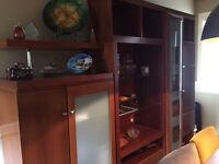 Modular Wood & Glass Display Cabinet