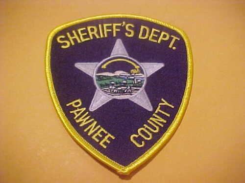 PAWNEE COUNTY KANSAS POLICE PATCH SHOULDER SIZE UNUSED