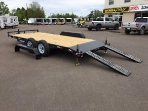 "NEW 2018 SURE-TRAC 82"" x 18' (10K) C-CHANNEL CAR HAULER"