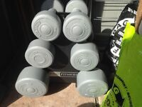 Dumbells and stand. (collection only)