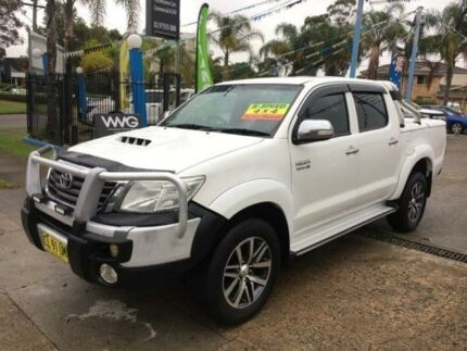 2012 Toyota Hilux KUN26R MY12 SR5 White Manual Utility Cabramatta Fairfield Area Preview