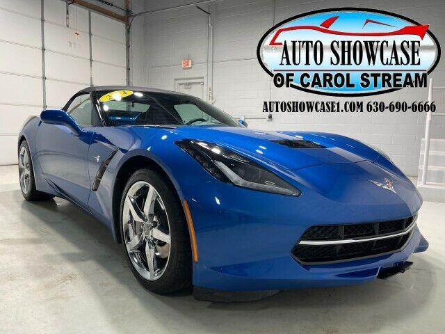 2014 Blue Chevrolet Corvette Convertible 3LT | C7 Corvette Photo 1