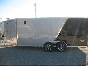 2017 Ameralite 7x21 drive in/drive out snowmobile trailer London Ontario image 3