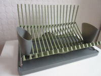 Very stylish Dish Drainer Folds away for storage from Blum+Black in Green and Grey