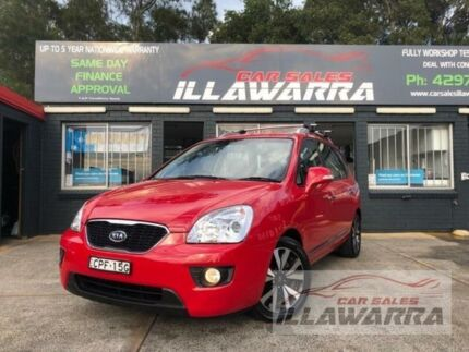 2013 Kia Rondo UN MY11 SLi Red 4 Speed Automatic Wagon Barrack Heights Shellharbour Area Preview