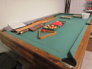 4x8 Pool Table with One Piece Slate
