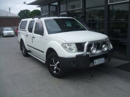 2007 Nissan Navara D40 RX White 6 Speed Manual Utility Invermay Launceston Area Preview