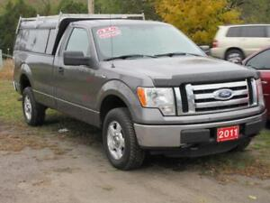 2011 Ford F-150 XLT 4x4 with matching CONTRACTORS CAP