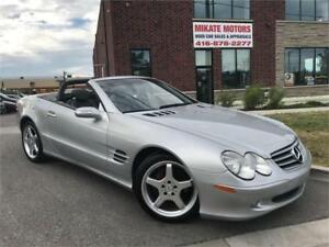 GORGEOUS 2004 MERCEDES BENZ SL500 CONVERTIBLE CERTIFIED