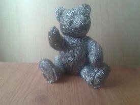 Solid metal cute cast teddy ornament