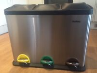 UNUSED, BRAND NEW Recycling Bin (kitchen or utility) 45Litre - Stainless Steel - £30