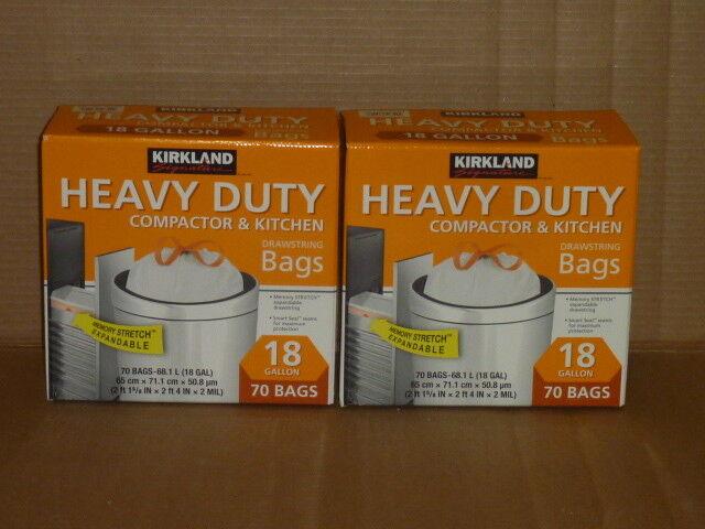 Kirkland Compactor Bags, 18 Gallon, Smart Fit Gripping Draws