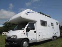 2006 BURSTNER ARGOS A748-2 6/7 BERTH, FIXED BED, REAR GARAGE MOTORHOME FOR SALE