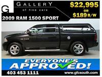 2009 DODGE RAM SPORT CREW *EVERYONE APPROVED* $0 DOWN $189/BW!