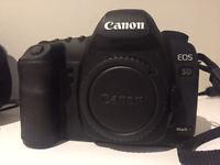 Canon 5D Mark ii with 50mm f/1.8 stm Lens - mark iii i vi 14mm samyang 6d 50d 60d 70d 80d 7d 6d dslr