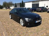 BMW 320i COUPE, BLACK, FSH, LEATHER, PARKING SENSORS, HPI CLEAR