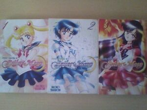 Pretty Guardian Sailor Moon kodansha Manga Vol 1, 2 and 3 Anime