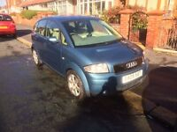 Audi A2 Blue 850 ono 1.4 2001 Plate Great first Car 10 Months M.O.T cheap Insurance