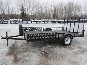 PRE-OWNED 7' X 12' SINGLE AXLE UTILITY TRAILER IN GOOD CONDITION