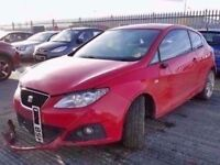 2008 MK5 SEAT IBIZA 1.4 PETROL IN RED BREAKING FOR PARTS